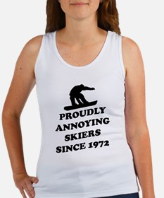 Snowboarders annoying skiers Tank Top