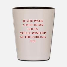 Funny Curling club Shot Glass