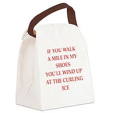 Cute Curling club Canvas Lunch Bag