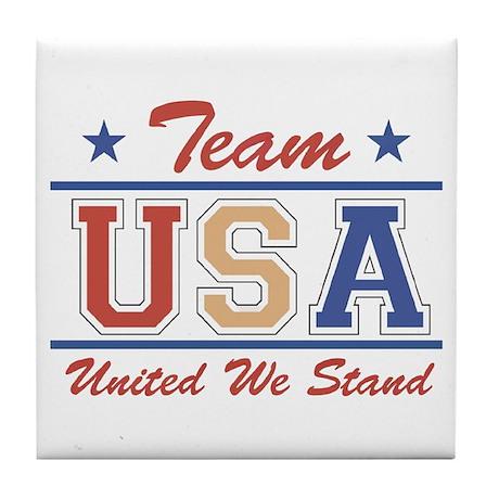Team USA Tile Coaster