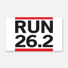 Run 26.2 Rectangle Car Magnet