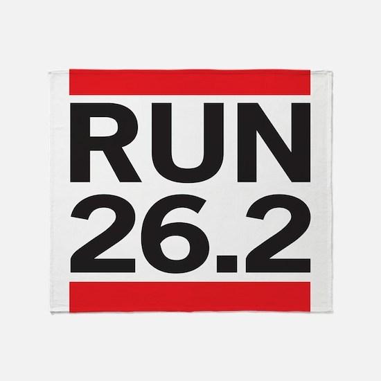Run 26.2 Throw Blanket