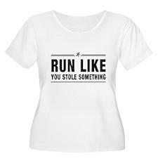 Run like you stole something Plus Size T-Shirt