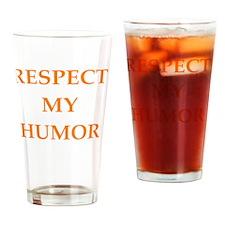 Cute Comedian Drinking Glass