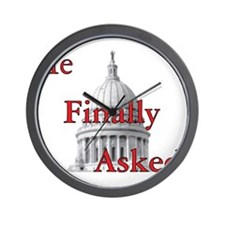 He Finally Asked.png Wall Clock