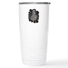 Treble Clef Music Doodle Black and White Travel Mug