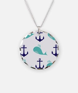 Whales and Anchors Necklace