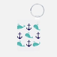 Whales and Anchors Keychains