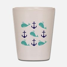 Whales and Anchors Shot Glass