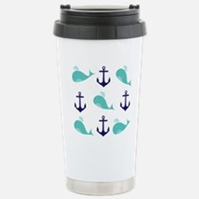Whales and Anchors Travel Mug