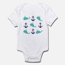 Whales and Anchors Body Suit