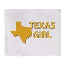 Texas Girl Throw Blanket