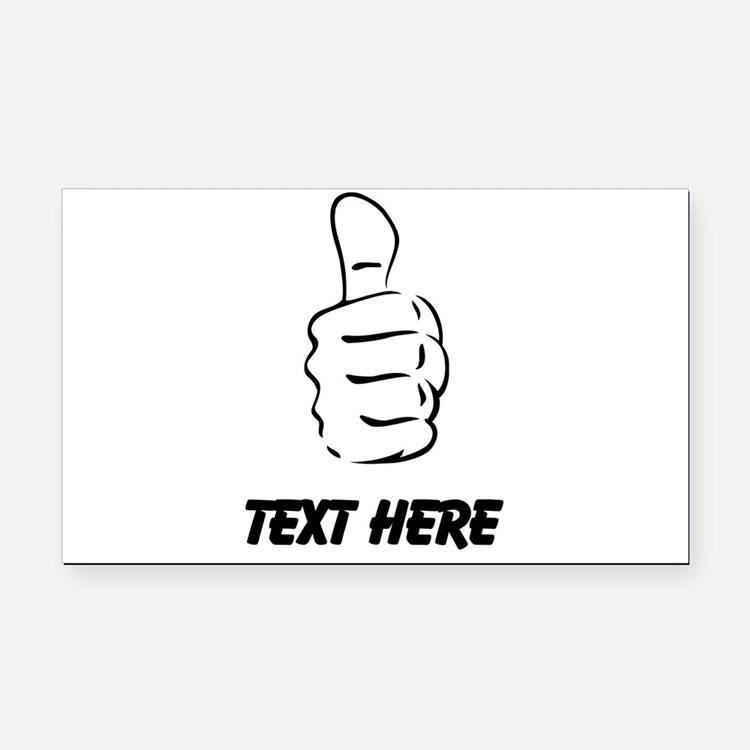 Custom Thumbs Up Rectangle Car Magnet