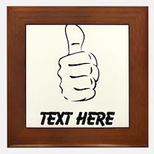 Custom Thumbs Up Framed Tile