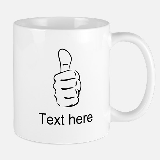 Custom Thumbs Up Mugs