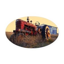 tractor Oval Car Magnet