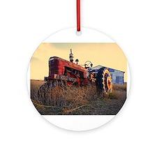 tractor Ornament (Round)