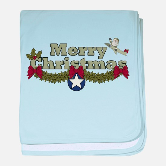Christmas, Air Force baby blanket