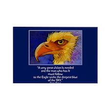 Eagle Blues Rectangle Magnet