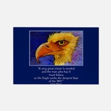 Eagle Blues Rectangle Magnet