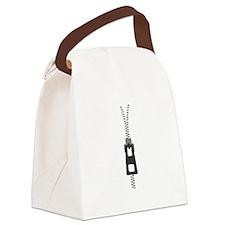 Zipper Canvas Lunch Bag