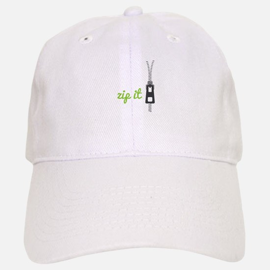 Zip It Baseball Baseball Baseball Cap