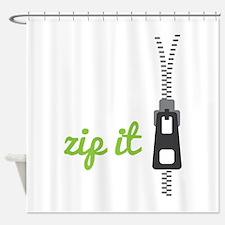 Zip It Shower Curtain