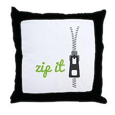 Zip It Throw Pillow