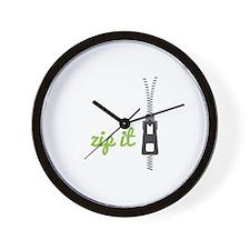 Zip It Wall Clock