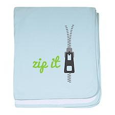 Zip It baby blanket