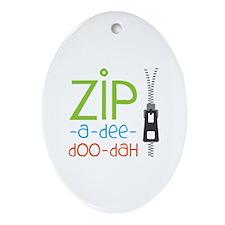 Zipper Zip Ornament (Oval)