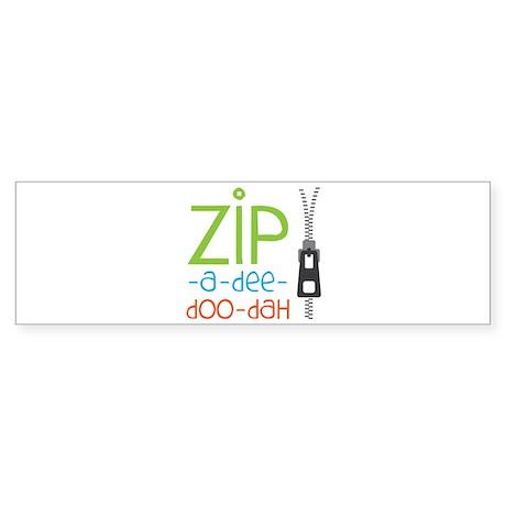 Zipper Zip Bumper Sticker