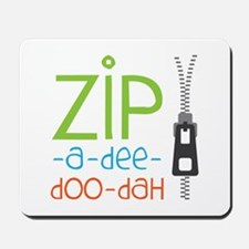 Zipper Zip Mousepad
