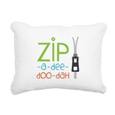 Zipper Zip Rectangular Canvas Pillow