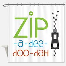 Zipper Zip Shower Curtain