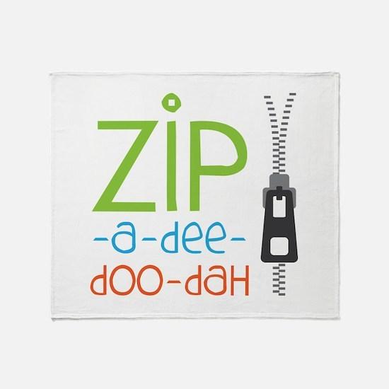 Zipper Zip Throw Blanket