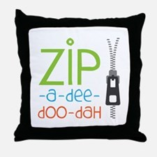Zipper Zip Throw Pillow