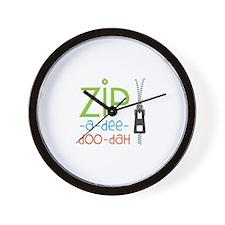 Zipper Zip Wall Clock