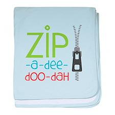 Zipper Zip baby blanket