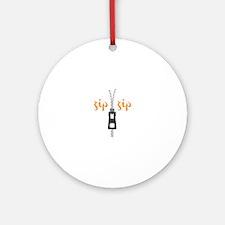 Zip Zip Ornament (Round)