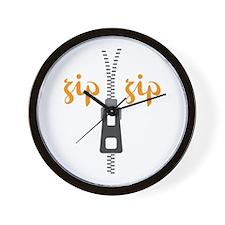 Zip Zip Wall Clock