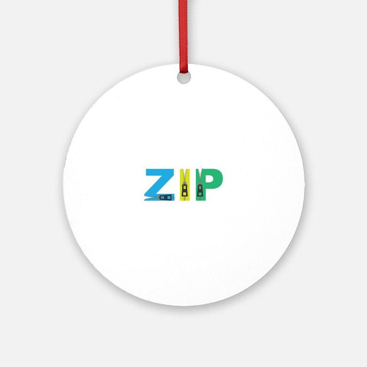 Zip Ornament (Round)