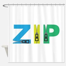 Zip Shower Curtain