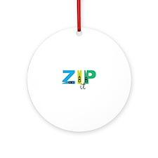 Zip It Ornament (Round)