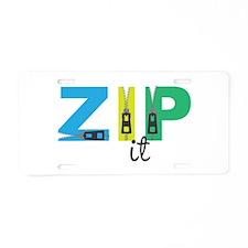Zip It Aluminum License Plate