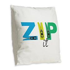 Zip It Burlap Throw Pillow
