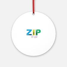 Zip It Up Ornament (Round)