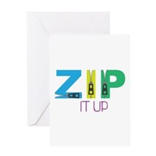 Zip It Up Greeting Cards