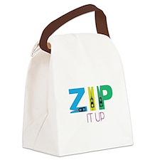 Zip It Up Canvas Lunch Bag