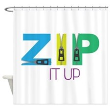 Zip It Up Shower Curtain